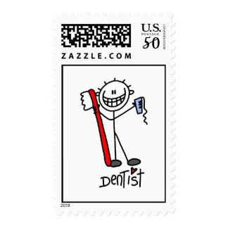 Basic Stick Figure Dentist Postage