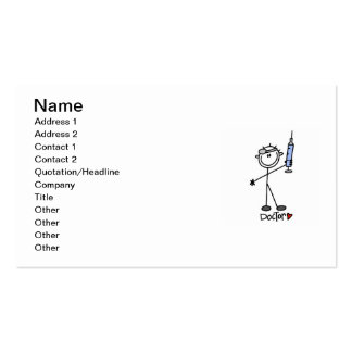 Basic Stick Figure Doctor Double-Sided Standard Business Cards (Pack Of 100)