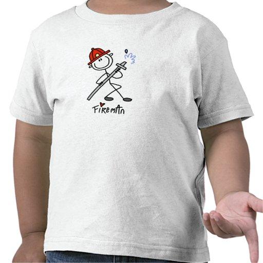 Basic Stick Figure Fireman T-shirts and Gifts