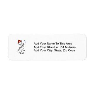 Basic Stick Figure Fireman T-shirts and Gifts Return Address Label