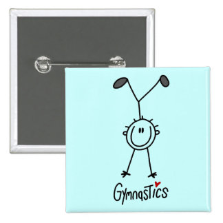 Basic Stick Figure Gymnastics Tshirts and Gifts Buttons