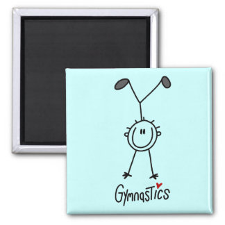 Basic Stick Figure Gymnastics Tshirts and Gifts Magnet