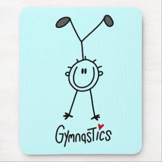 Basic Stick Figure Gymnastics Tshirts and Gifts Mouse Pad