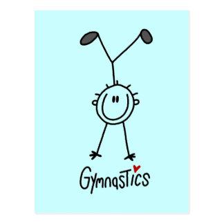 Basic Stick Figure Gymnastics Tshirts and Gifts Postcard