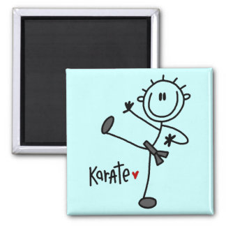 Basic Stick Figure Karate T-shirts and Gifts 2 Inch Square Magnet