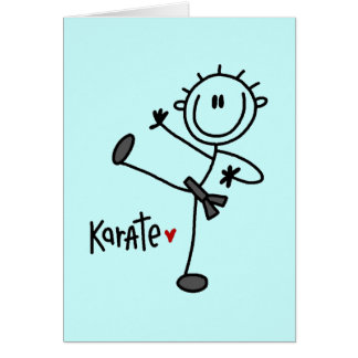 Basic Stick Figure Karate T-shirts and Gifts Card