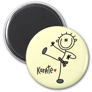 Basic Stick Figure Karate T-shirts and Gifts Magnet