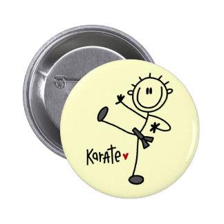 Basic Stick Figure Karate T-shirts and Gifts Pinback Button