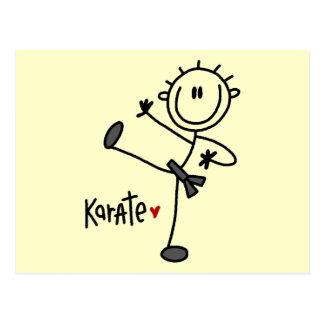 Basic Stick Figure Karate T-shirts and Gifts Postcard