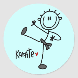 Basic Stick Figure Karate T-shirts and Gifts Classic Round Sticker