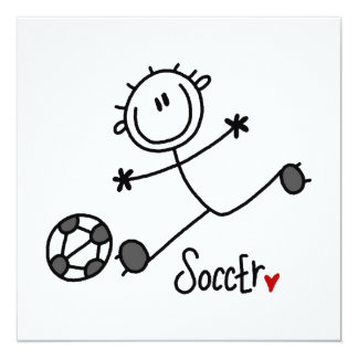 Basic Stick Figure Soccer Player T-shirts and Gift Card
