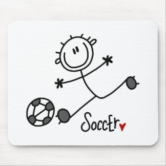 Basic Stick Figure Soccer Player T-shirts and Gift Mouse Pad