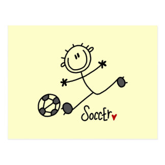 Basic Stick Figure Soccer Player T-shirts and Gift Postcard