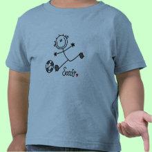 Stick Figure Kids Soccer T-shirt