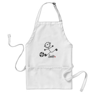Basic Stick Figure Soccer T-shirts and Gifts Aprons