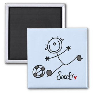 Basic Stick Figure Soccer T-shirts and Gifts Refrigerator Magnets