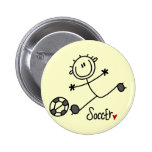 Basic Stick Figure Soccer T-shirts and Gifts Pins