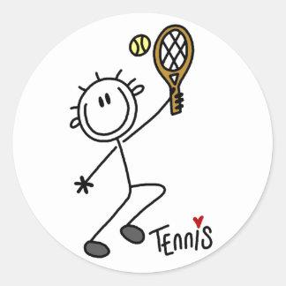 Basic Stick Figure Tennis Stickers