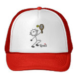 Basic Stick Figure Tennis Tshirts and Gifts Mesh Hats