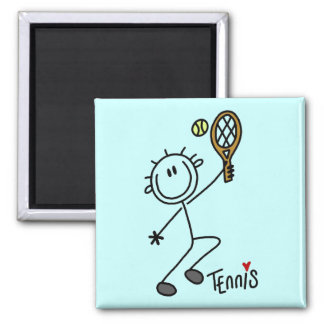 Basic Stick Figure Tennis Tshirts and Gifts Refrigerator Magnets