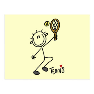 Basic Stick Figure Tennis Tshirts and Gifts Post Card