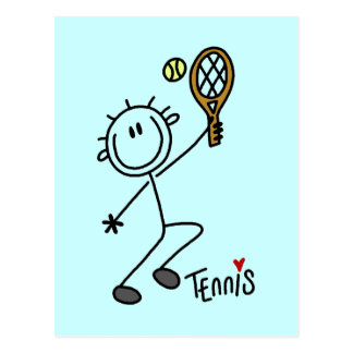 Basic Stick Figure Tennis Tshirts and Gifts Postcard