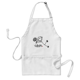 Basic Stick Figure Volleyball Tshirts and Gifts Adult Apron