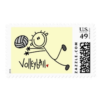 Basic Stick Figure Volleyball Tshirts and Gifts Postage