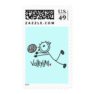Basic Stick Figure Volleyball Tshirts and Gifts Stamp