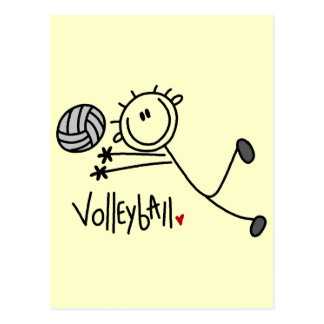 Basic Stick Figure Volleyball Tshirts and Gifts Postcard