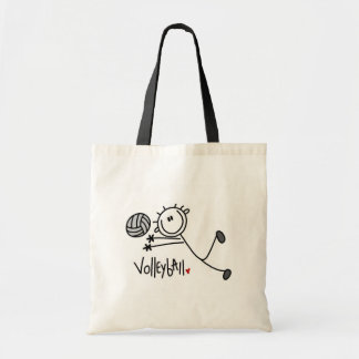 Basic Stick Figure Volleyball Tshirts and Gifts Tote Bag
