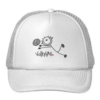 Basic Stick Figure Volleyball Tshirts and Gifts Trucker Hat
