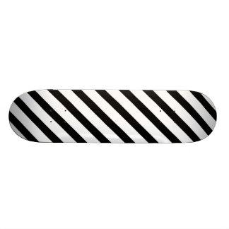 Basic Stripe 1 Black and White Skateboard Deck