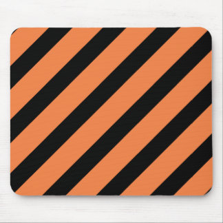 Basic Stripe 1 Celosia Orange Mouse Pad