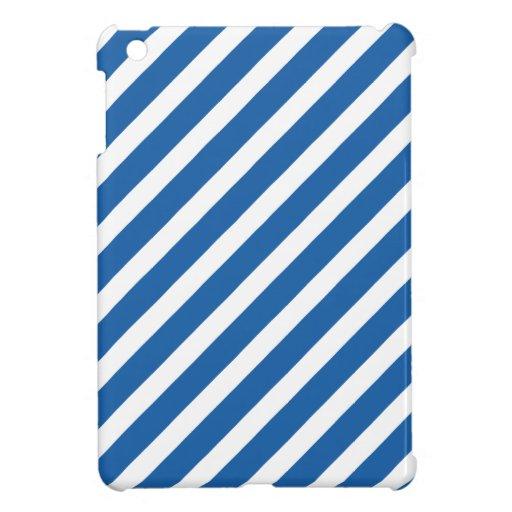 Basic Stripe 1 Dazzling Blue iPad Mini Covers