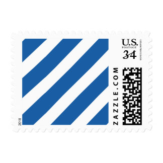 Basic Stripe 1 Dazzling Blue Postage Stamps