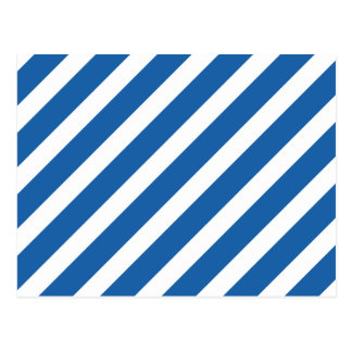 Basic Stripe 1 Dazzling Blue Postcard