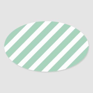 Basic Stripe 1 Hemlock Oval Sticker