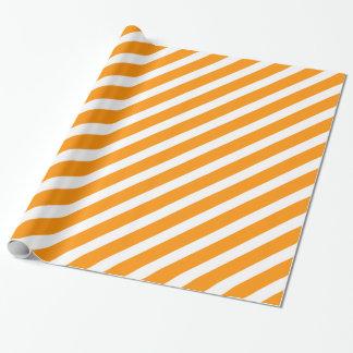 Basic Stripe 1 Orange Wrapping Paper