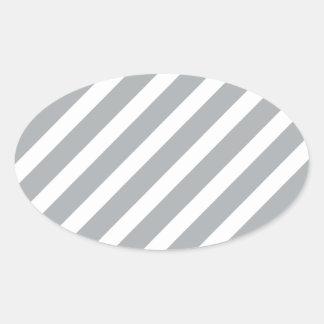 Basic Stripe 1 Paloma Oval Sticker