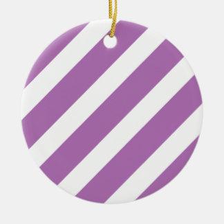 Basic Stripe 1 Radiant Orchid Christmas Tree Ornaments