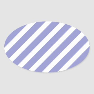 Basic Stripe 1 Violet Tulip Oval Sticker