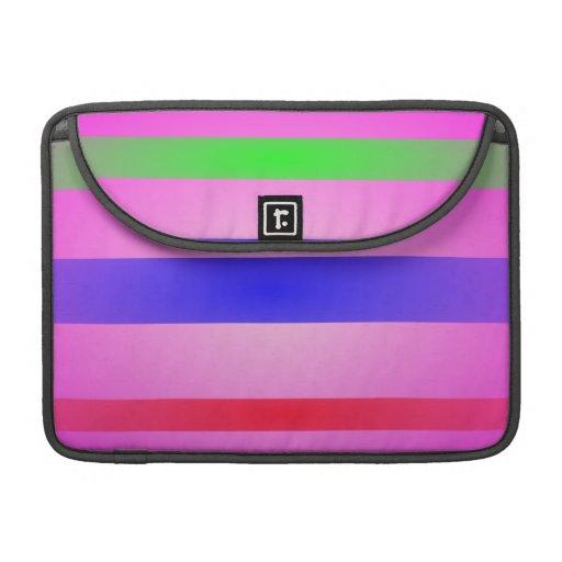 Basic Stripes Art Pink Sleeves For MacBooks