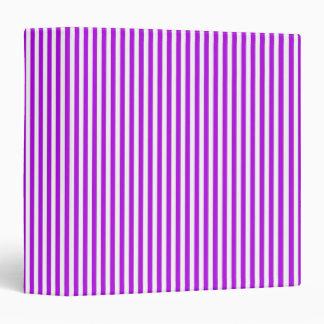 Basic Stripes Brights Purple 2 Binder
