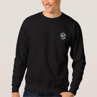 Basic Sweatshirt Black Embroidered Monogram