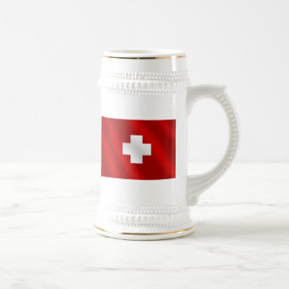 Basic Swiss flag Suisse gifts for Schweiz lovers Beer Stein