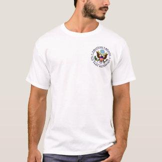 Basic t-shirt; Embassy STP; deserve danger pay T-Shirt