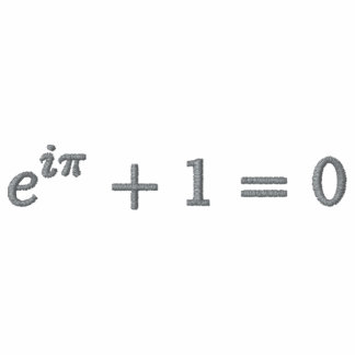 Basic T-Shirt: Euler's identity small. cobblestone