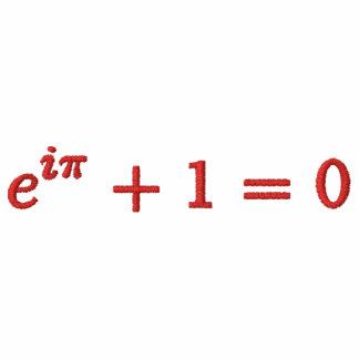 Basic T-Shirt: Euler's identity small, red