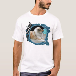 Basic T-shirt for fans of frisbee and dogs, size L